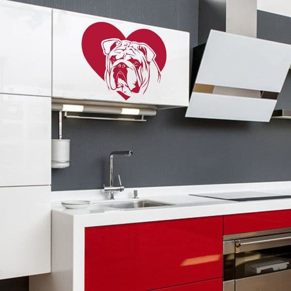 English/British Bulldog Sticker - Suitable For Many Places - Choice Of Colour (3)